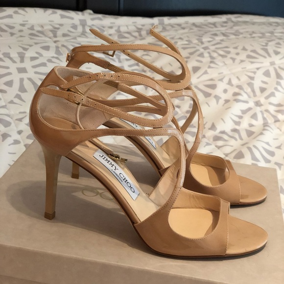 d09c3f4c338a Jimmy Choo Shoes - Jimmy Choo Ivette strappy heels in nude!